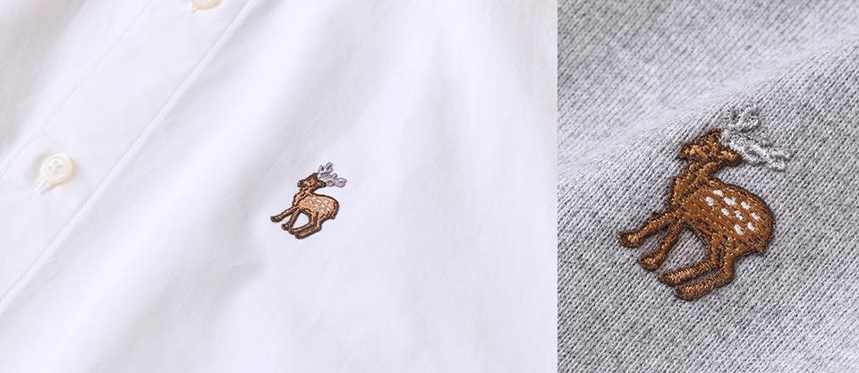 鹿の刺繍シリーズ