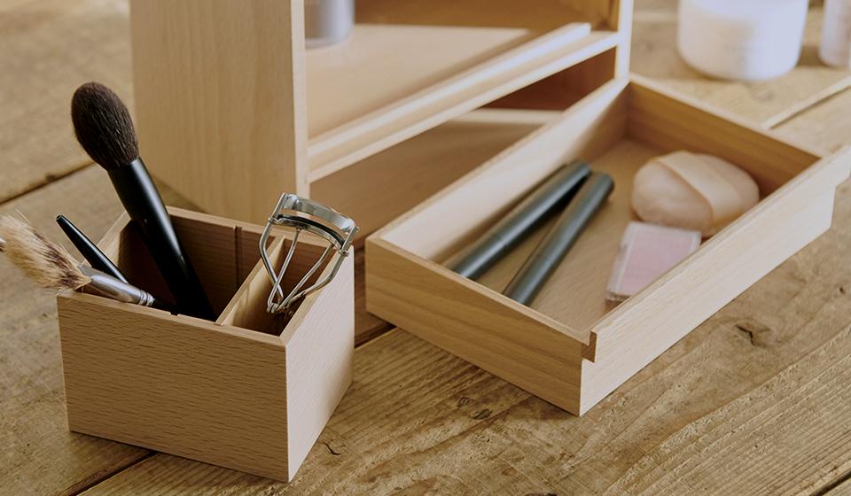 細かい道具は整理しやすく取り出しやすく