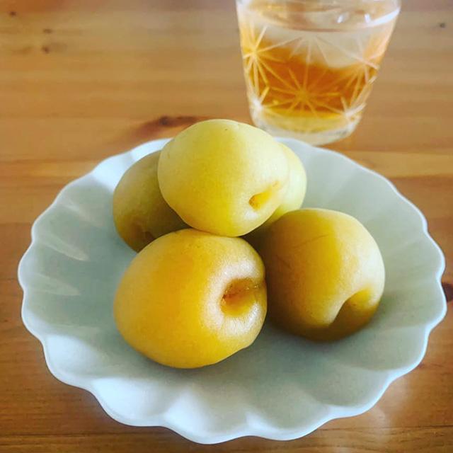 梅酒の梅の実