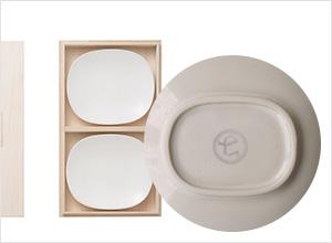 麻の葉菓子皿