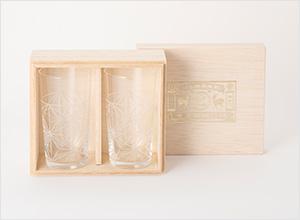 麻の葉切子グラス