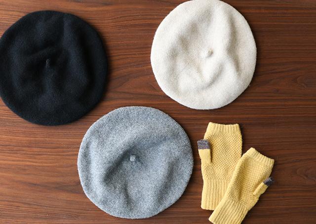 ふんわりウールのベレー帽